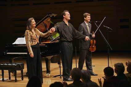 Carolyn Maule, Russell Braun, James Ehnes at the WMCT 115th Anniversary Concert