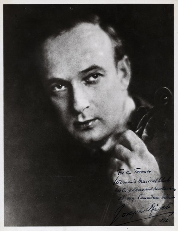 Joseph Szigeti, violin