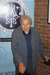 Marianne Weil, WMCT member for 54 years.