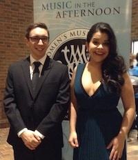 Pianist John Arida with Simone Osborne
